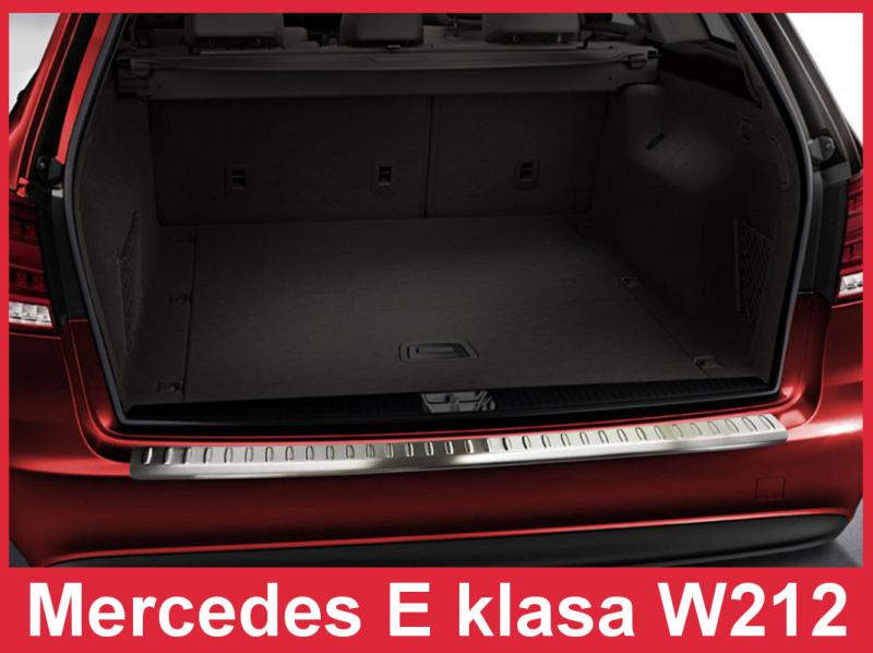Ochranná lišta hrany kufru Mercedes E-Class 2013-2016 (W212, combi)
