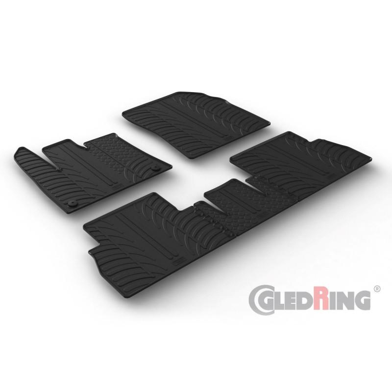 Gumové autokoberce Gledring Citroen Berlingo 2018- (oválné fixace, sklopná sedačka spolujezdce)