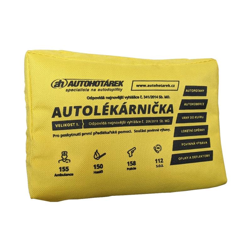 Autolékárnička textilní Auto Hotárek (žlutá)