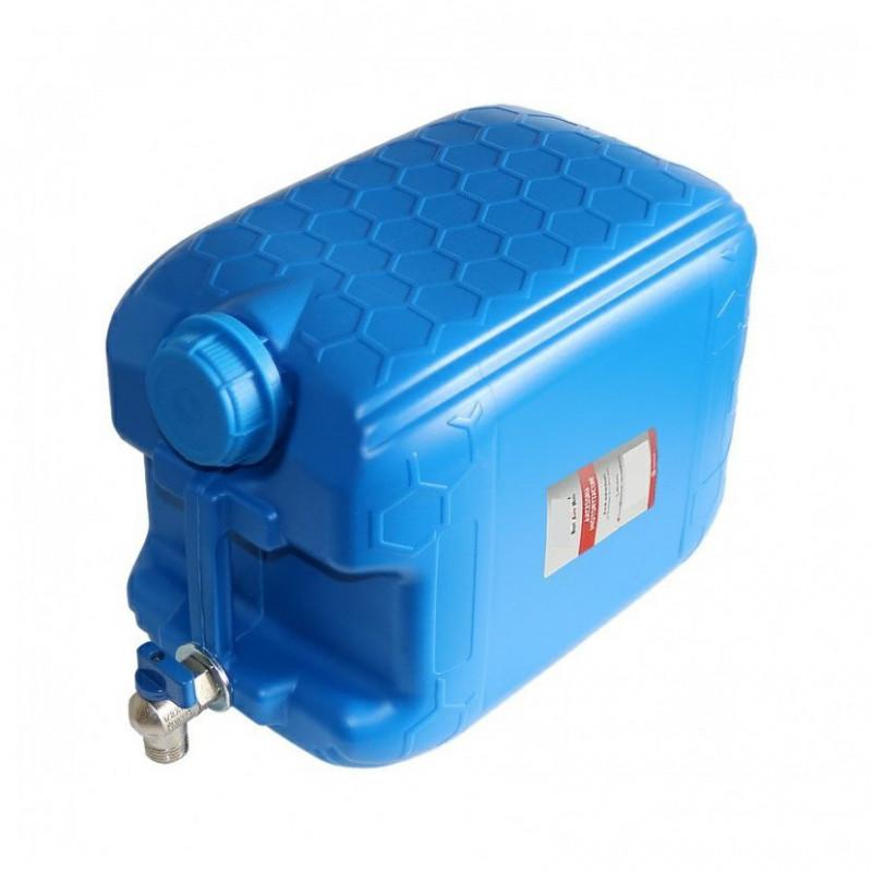Kanystr na užitkovou vodu s kovovým kohoutkem (plastový, 10l, modrý)