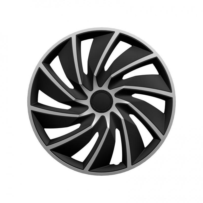 "Poklice Turbo Silver Black - 17"""