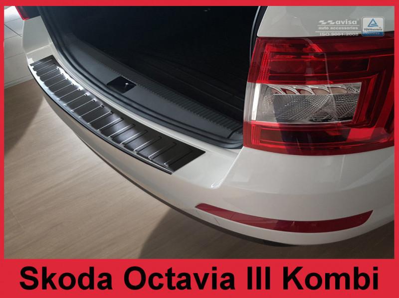 Ochranná lišta hrany kufru Škoda Octavia III. 2013-2016 (combi, tmavá)