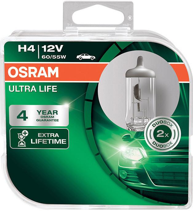 Autožárovky H4, 12V, 60/55W, P43t, Ultra Life (2ks)