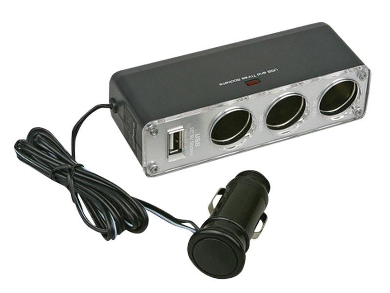 Roztrojka autozapalovče + USB (s kabelem)