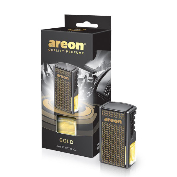 Luxusní parfém do auta Areon Gold (do mřížky, 8ml)