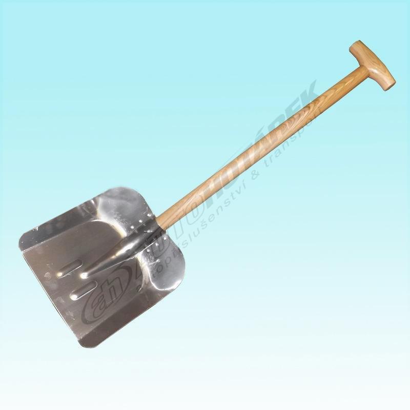 Lopata na sníh 85 cm dřevo/hliník
