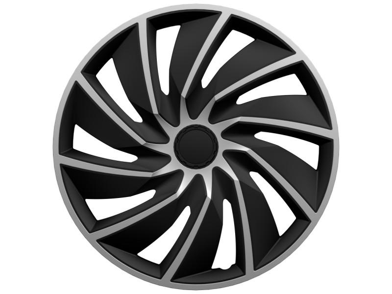 "Poklice Turbo Silver Black - 15"""