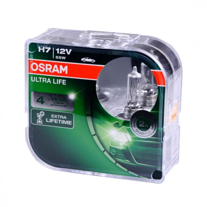 Autožárovky H7, 12V, 55W, PX26d, Ultra Life (2ks)