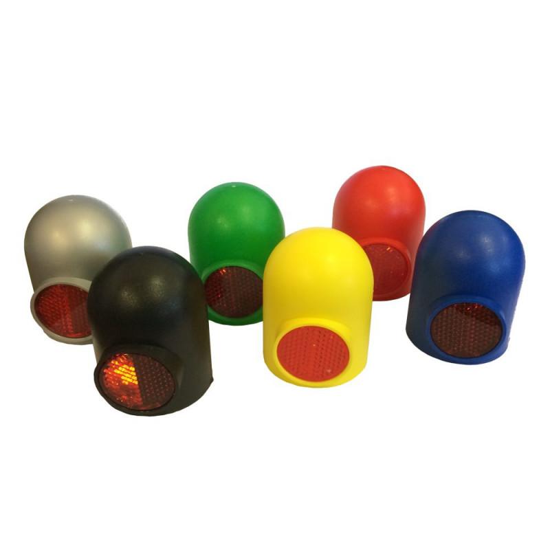 Krytka tažného zařízení s odrazkou (plastová, žlutá)