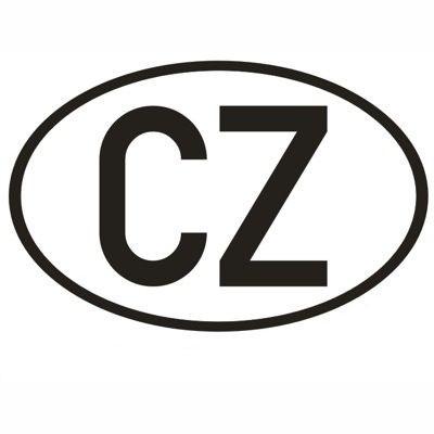Samolepka CZ velká vnější (17x11cm)