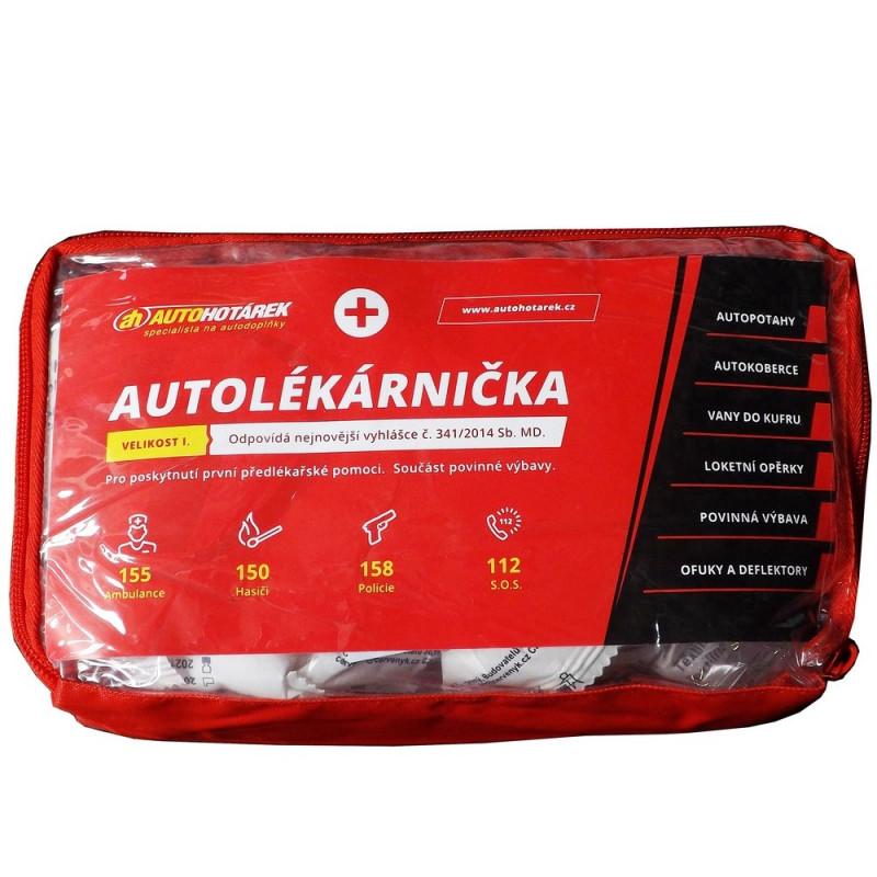 Autolékárnička textilní Auto Hotárek (červená)