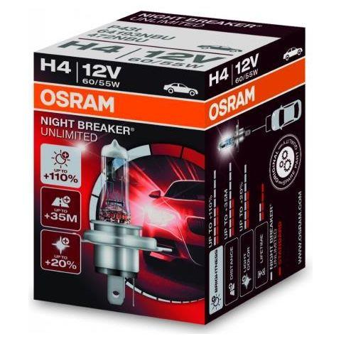 Autožárovka H4, 12V, 55W/60W, P43t, Night Breaker Unlimited