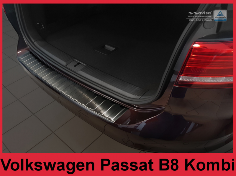 Ochranná lišta hrany kufru VW Passat B8 2015- (combi, tmavá)