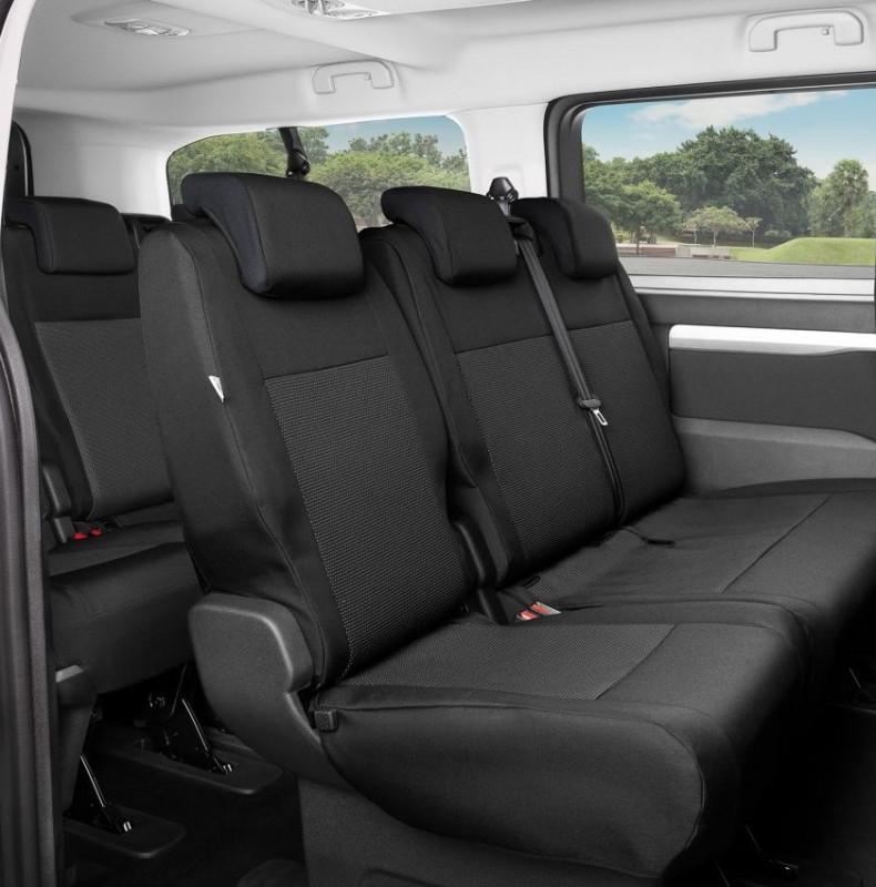 Přesné autopotahy Opel Zafira Life 2019- (2 opěradla + 2 sedadla)