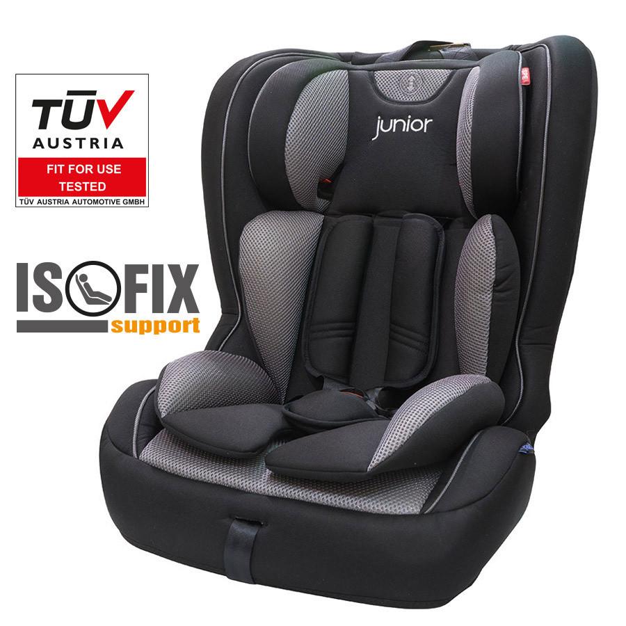 Dětská autosedačka Premium Plus 804 (černošedá)
