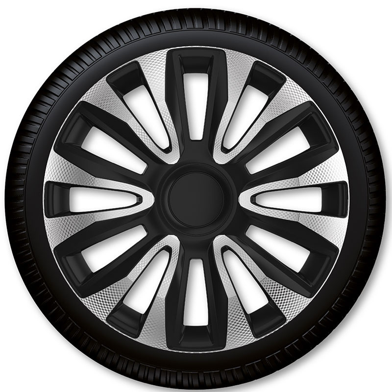 "Poklice Avalon Carbon Silver Black - 16"""