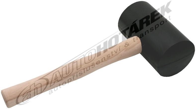 Gumová palice 2 kg (černá)