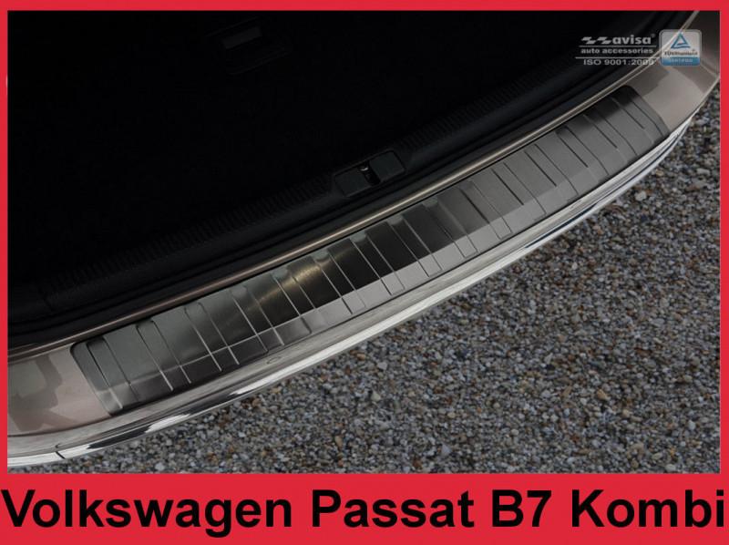 Ochranná lišta hrany kufru VW Passat 2010-2015 (combi, tmavá)