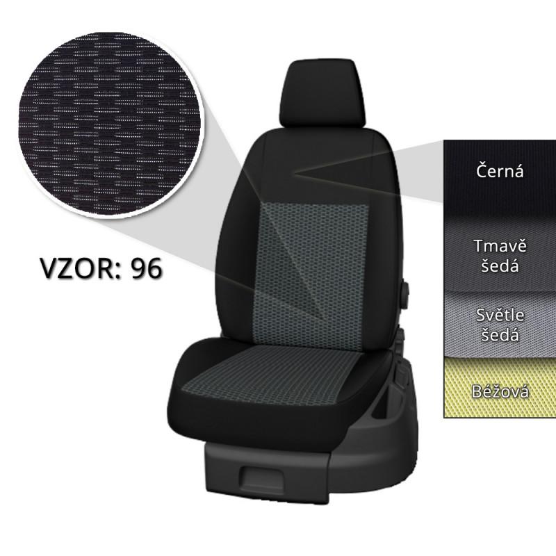 Autopotahy Taso VW Golf VI. 2008-2012 (vzor 96, černé boky)