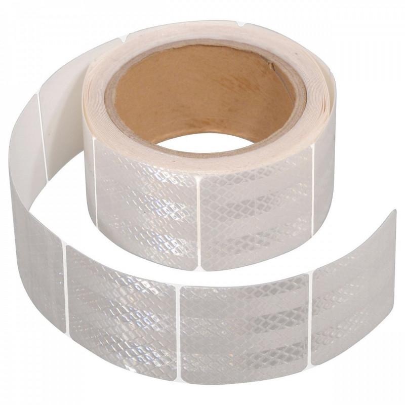 Samolepicí reflexní páska (bílá, dělená, 1m)