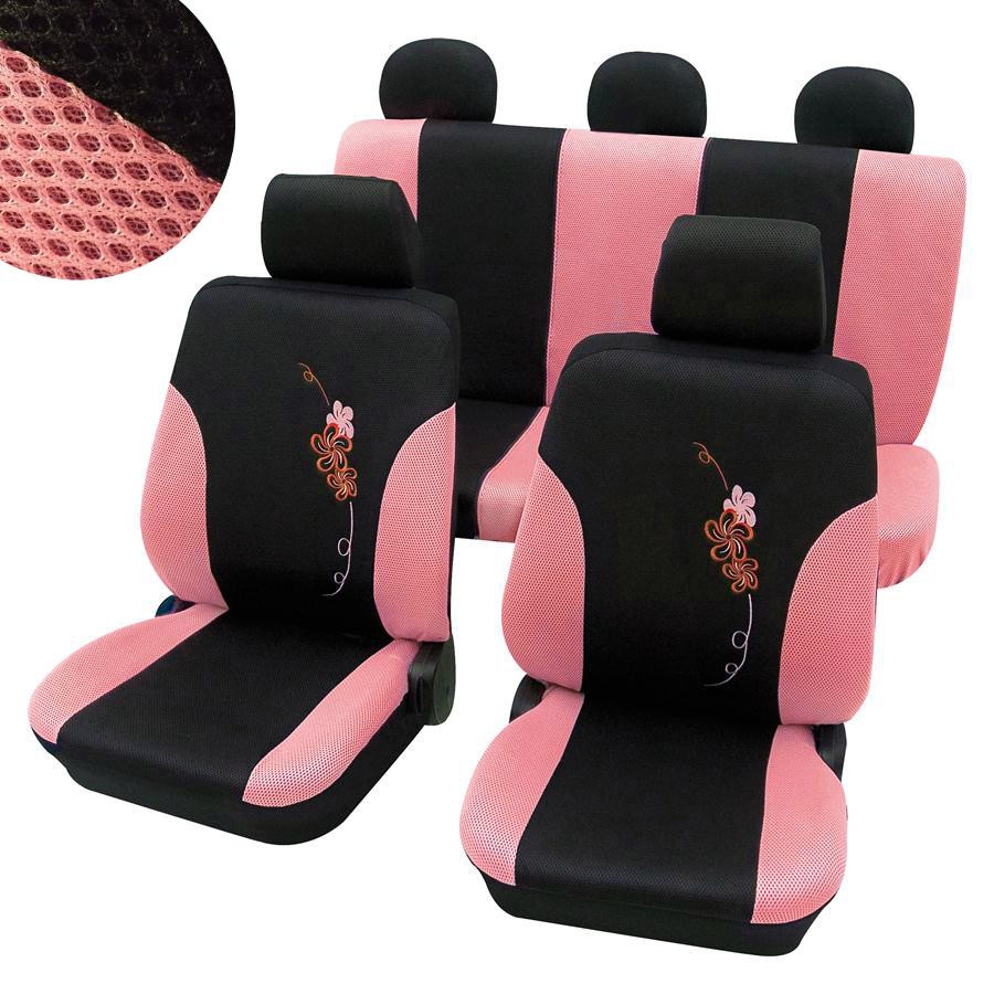 Autopotahy FLOWER růžové