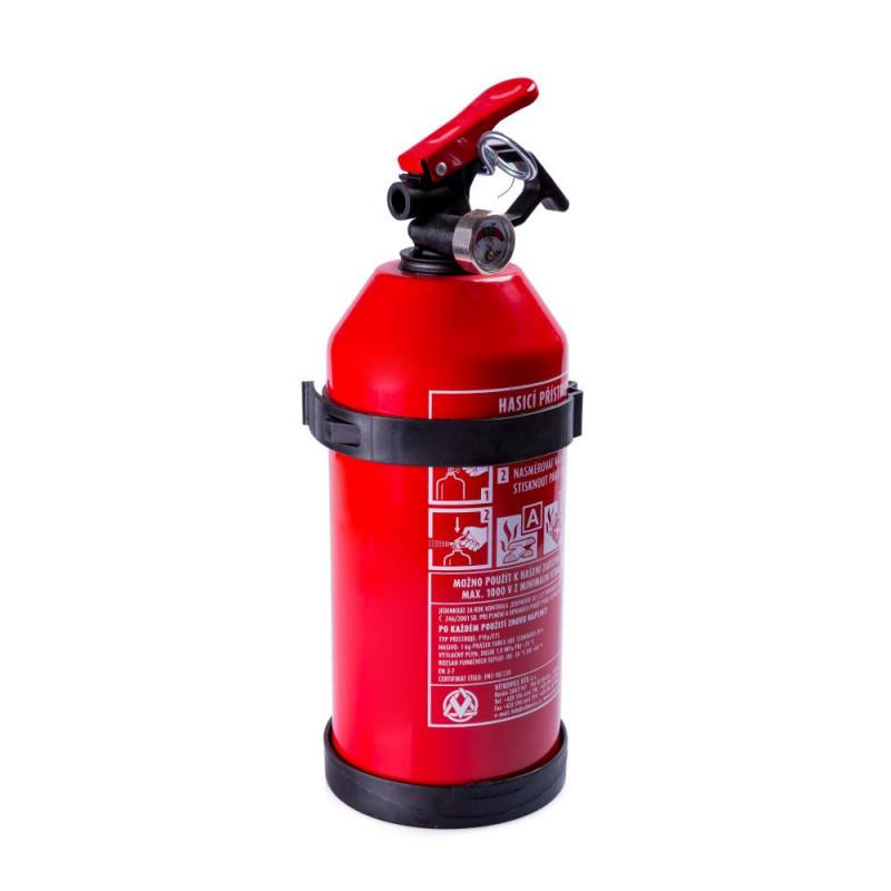 Hasící přístroj práškový 1 kg (ABC s manometrem)