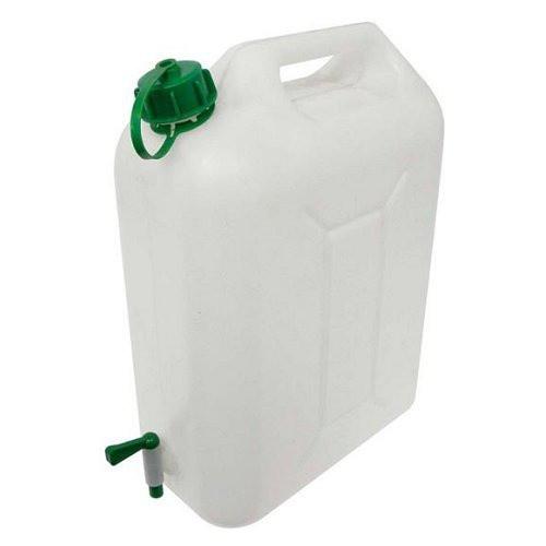 Kanystr na vodu s plastovým kohoutkem (plastový, 10l, bílý)