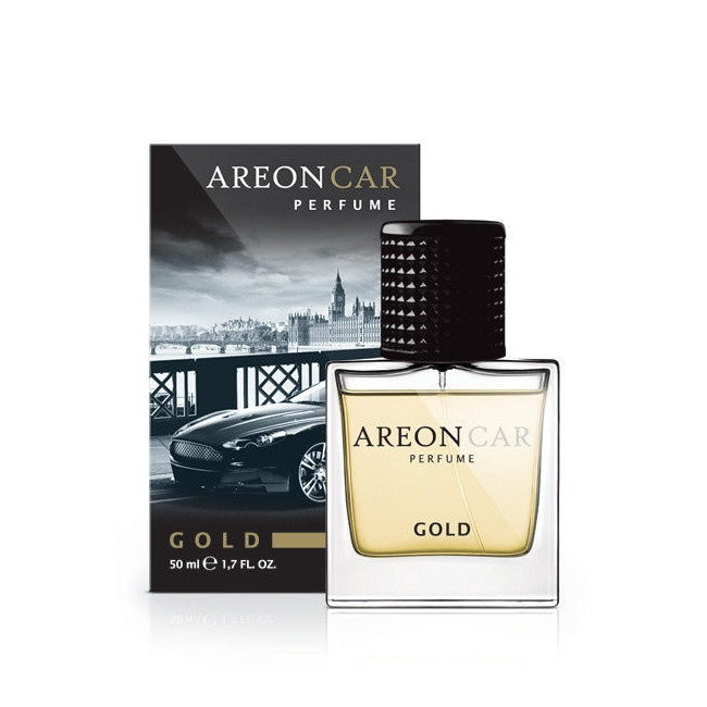 Luxusní parfém do auta Areon Gold (50ml, flakón)