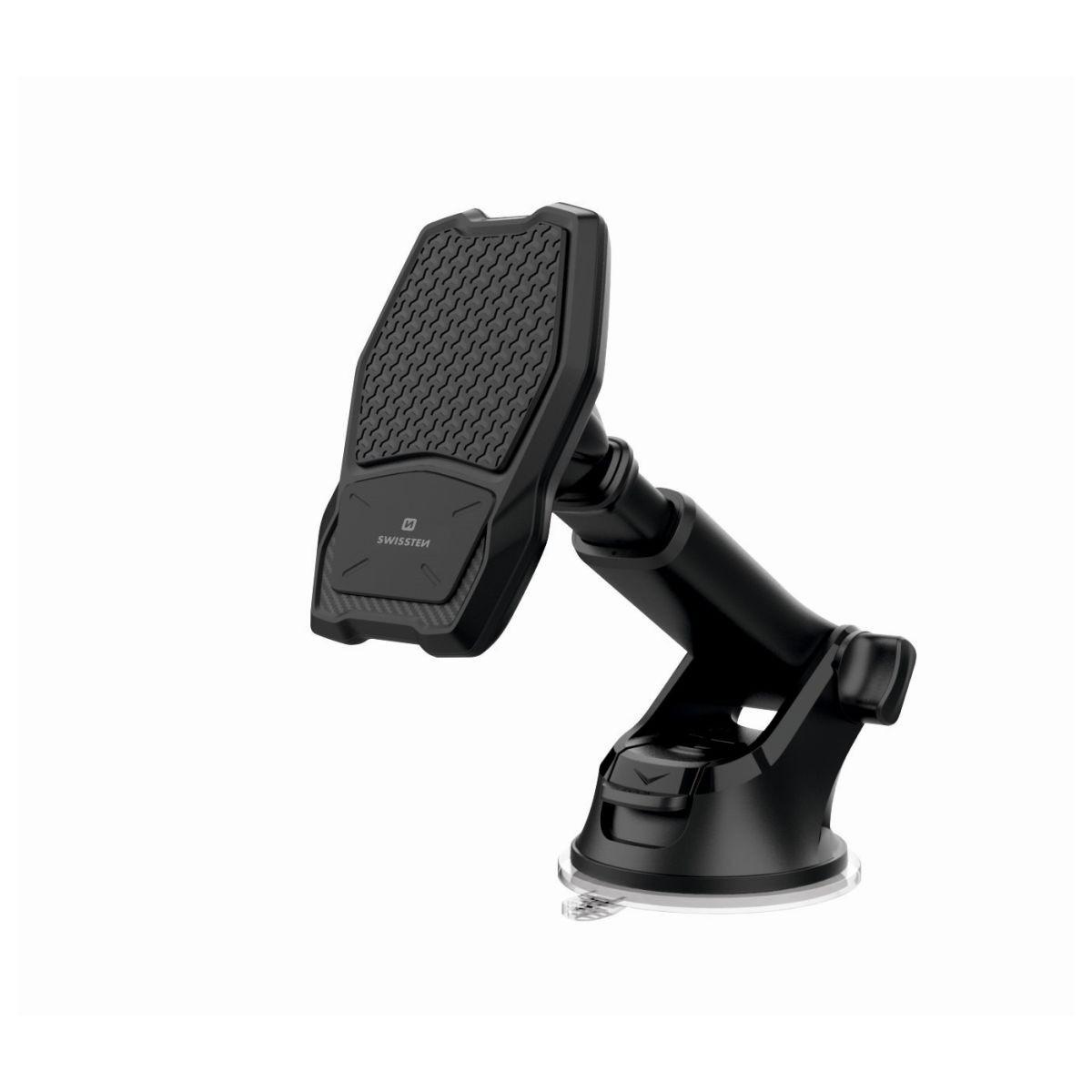 Držák telefonu s bezdrátovou nabíječkou - magnetický, s teleskopickým ramenem