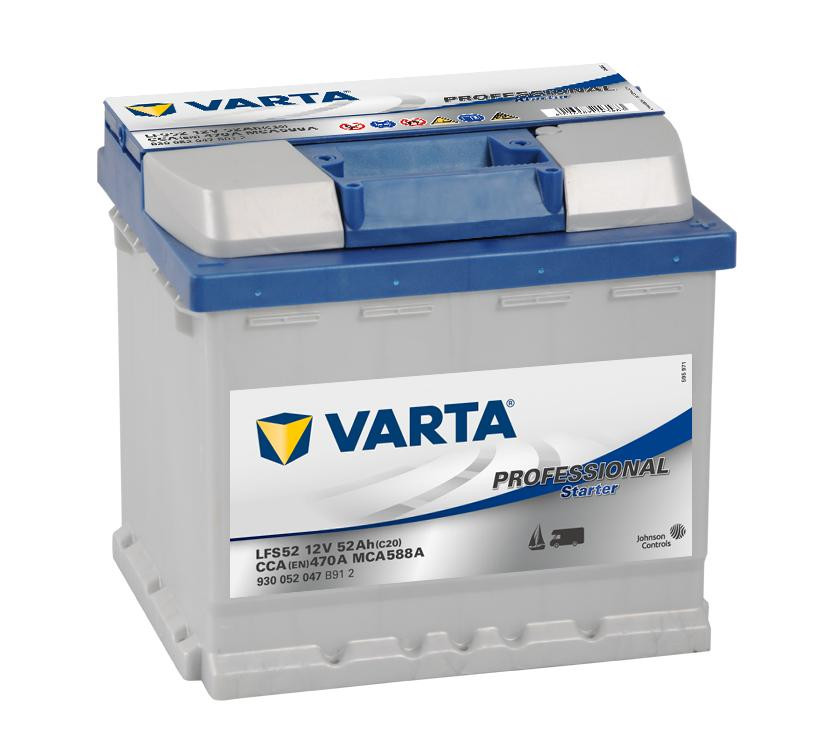 Autobaterie 52Ah Varta Professional Starter LFS52